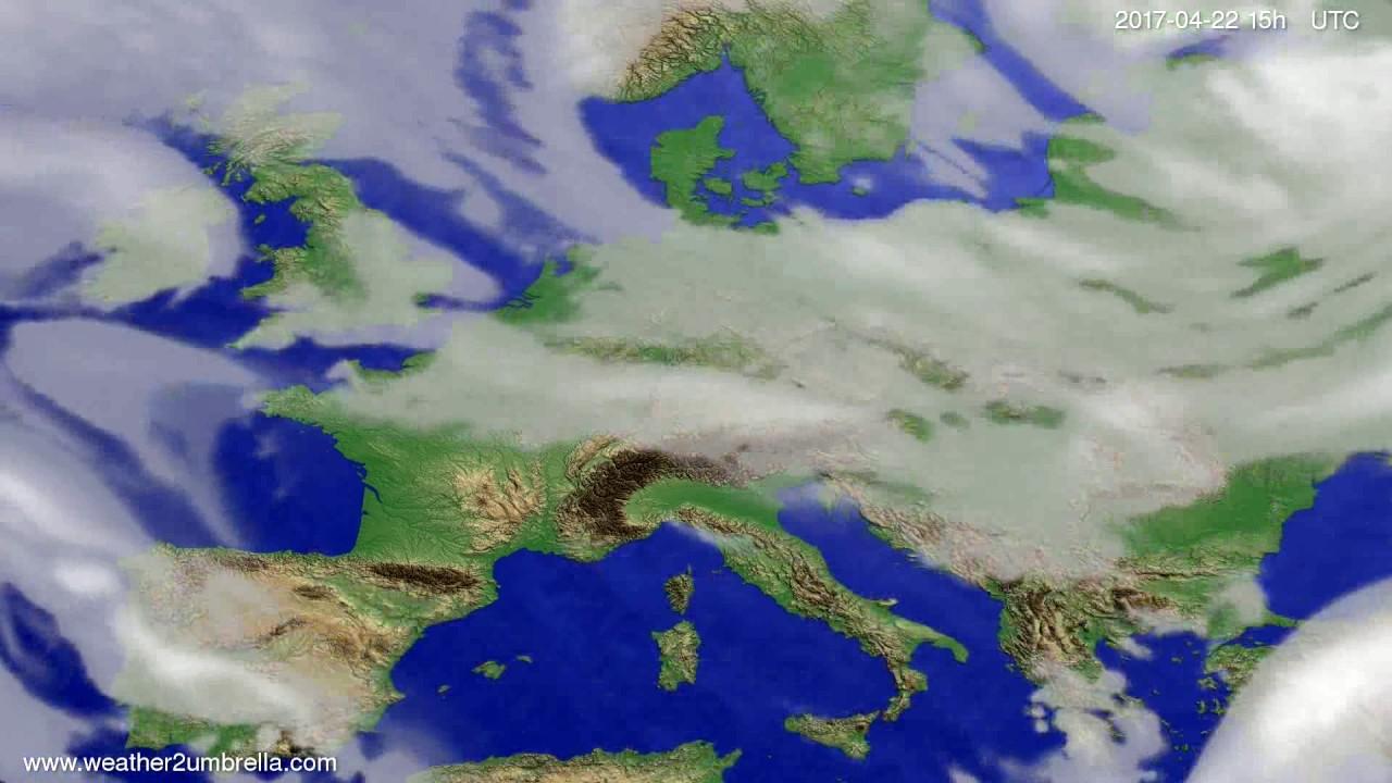 Cloud forecast Europe 2017-04-20