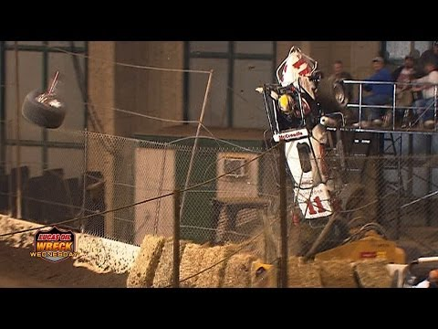 Midget Flips Over Fence at The Chili Bowl - WW #1