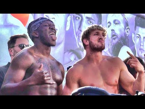 KSI vs. Logan Paul - Explosive weigh in FILMED FROM THE FRONT ROW!!