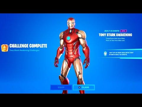 Fortnite All Tony Stark Awakening Challenges - How to Unlock Iron Man Style (UPDATED)