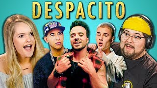 Video ADULTS REACT TO DESPACITO (Luis Fonsi, ft. Daddy Yankee, Justin Bieber) MP3, 3GP, MP4, WEBM, AVI, FLV November 2017