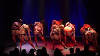 Glam Rock students perform Cherry Pie - The Bombshell Burlesque Academy