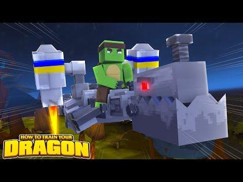 THE ROBOT DRAGON AWAKES! - How To Train Your Dragon w/TinyTurtle (видео)