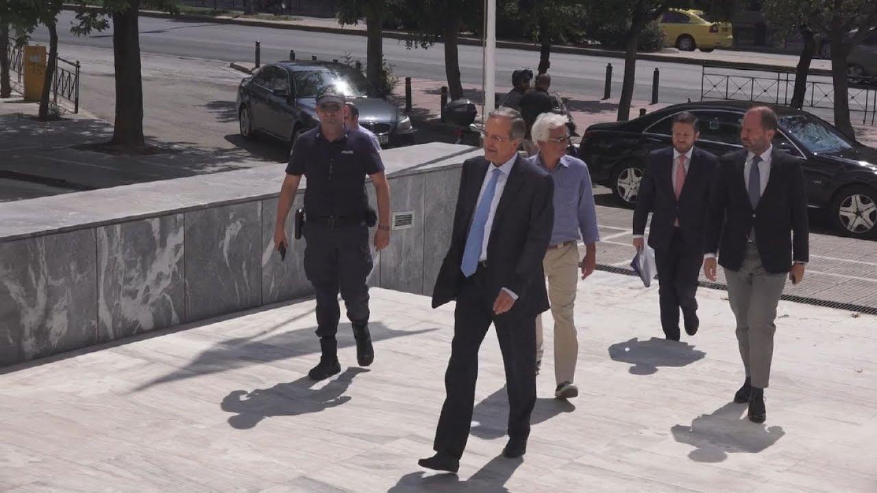 Ο Αντώνης Σαμαράς στην Εισαγγελία του Αρείου Πάγου