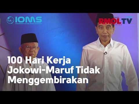 100 Hari Kerja Jokowi-Maruf Tidak Menggembirakan