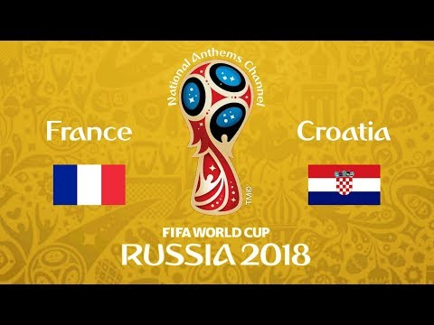 France vs. Croatia National Anthems (World Cup 2018)