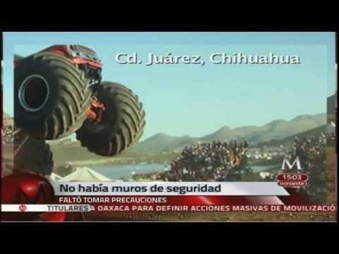 Monster Truck en Accidente deja 8 Muertos y 67 Heridos en Chihuahua 05Oct2013