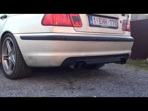 E46 320d M47TU with performance turbocharger,straight exhaust