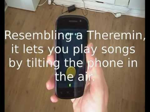 Video of Tilt Theremin Demo