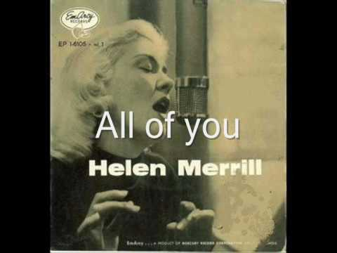 Tekst piosenki Helen Merrill - All Of You po polsku