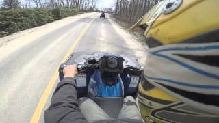 8. riding my new polaris sportsman 570 sp 2 up