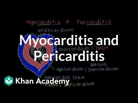 What is myocarditis and pericarditis?