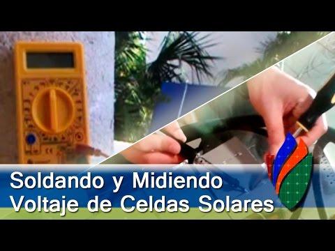 Como Soldar Celdas Solares y Cuanta Energía Generan