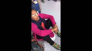"""Lawrence Leathers shared this incredible video of Cecile McLorin Salvant singing impromptu in Paris Aéroport - Charles de Gaulle (CDG) while waiting for a flight with the caption: Cecile and Aaron Diehl On our way to Marseille, France from London. Easing Brexit tensions with voice and piano! Some gifts were given to be shared!!!! Ps 'When you do what you love, wherever you are'"""" - 7/4/16"""