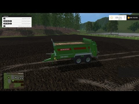 Manure compost spreader V1