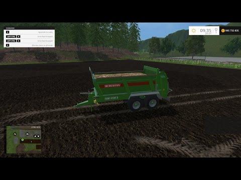 Manure compost spreader V1