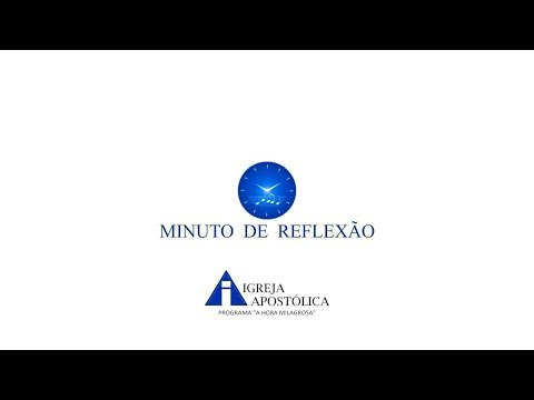Mensagem de reflexão - MINUTO DE REFLEXÃO - O irmão Aldo espera seu trabalho pela igreja