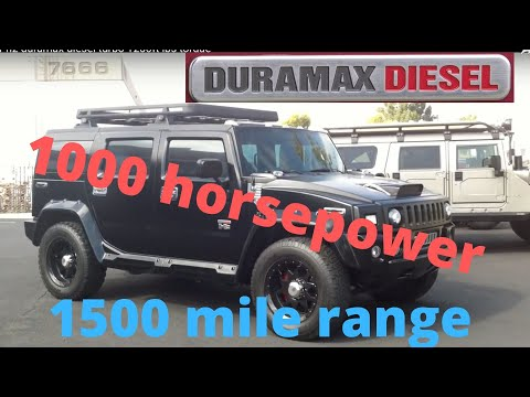 hummer h2 duramax diesel turbo 1200ft lbs torque