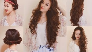 Heatless Curls with a Headband! - YouTube