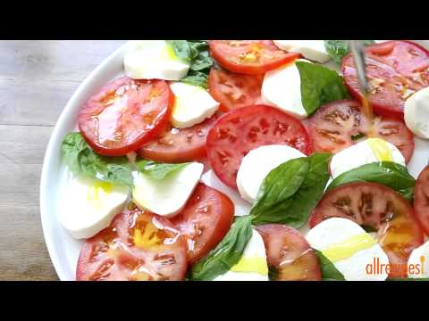 Salad Recipes – How to Make Insalata Caprese