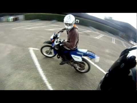 yamaha dt 125r - tutorial wheelie & stoppie