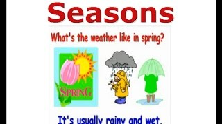 ESL seasons lesson, winter, summer, autumn, English for kids