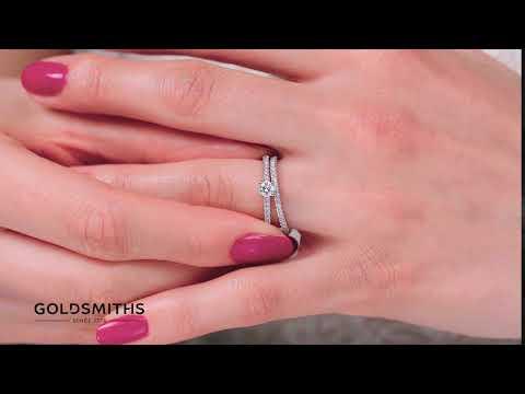 A Perfect Match   9ct White Gold 0.50 Carat Diamond Bridal Set