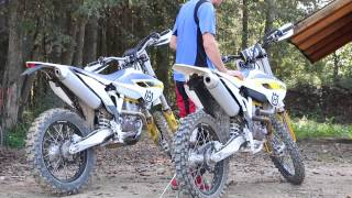 9. Husqvarna FC 250 and FE 250 sound - motocross and enduro stock pipe sound test