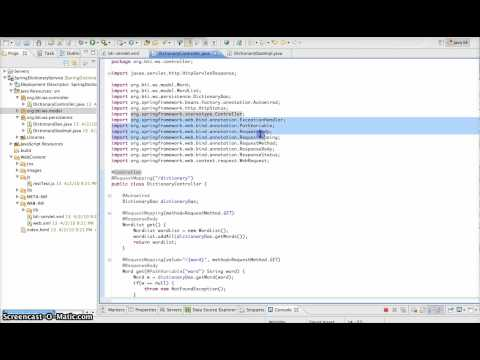 Spring Security 3.0 - ntroduction to building RESTful web services with the Spring Framework. This portion discusses the initial configuration. The source code used in the screenc...