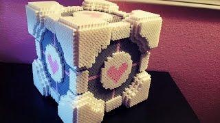 3D Perler Bead Companion Cube Tutorial! - YouTube