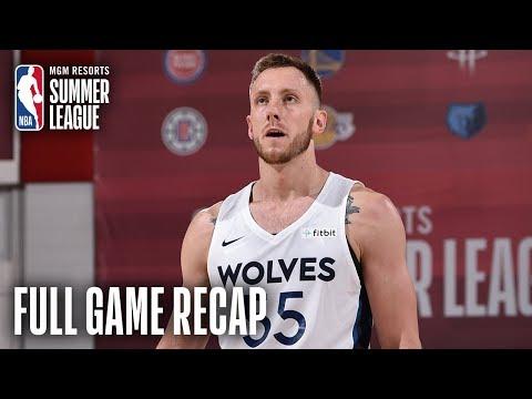 Video: BUCKS vs TIMBERWOLVES | Balanced Effort Leads Minnesota | MGM Resorts NBA Summer League