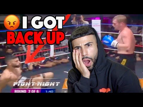 Reacting To The Adam vs. Marcus Fight!!  **MY FIRST PROFESSIONAL MATCH**