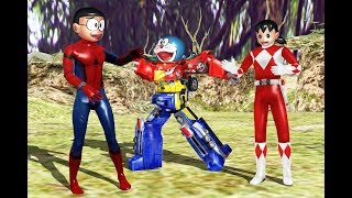 Video Wrong superheroes Phone Doraemon Spider Robot Megazord Rangers Finger Family Song MP3, 3GP, MP4, WEBM, AVI, FLV Juli 2018