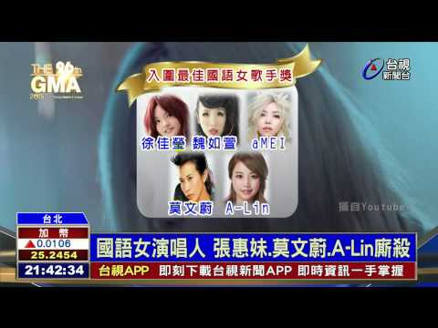 金曲獎入圍大贏家蔡依林九項最風光
