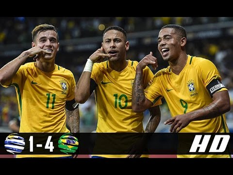 Uruguay vs Brazil 1-4 All Goals & Highlights (World Cup Qualification South America) 24-03-2017