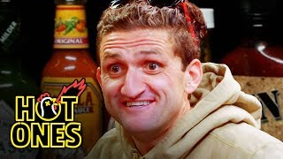 Video Casey Neistat Melts His Face Off While Eating Spicy Wings | Hot Ones MP3, 3GP, MP4, WEBM, AVI, FLV September 2018