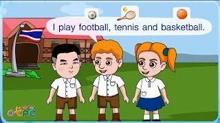 สื่อการเรียนการสอน Let play sports ป.2 ภาษาอังกฤษ