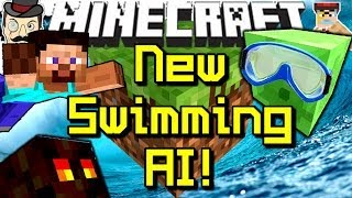 Minecraft NEW MOB AI! Swimming Slimes in 14w05a Snapshot!