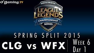 LCS NA Spring 2015 - W6D1 - CLG vs WFX