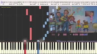 "Школа - группа ""Барбарики"" (Ноты и Видеоурок для фортепиано) (piano cover)"