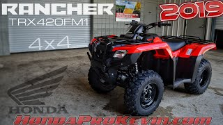 8. 2019 Honda Rancher 420 4x4 ATV (TRX420FM1) Walk-Around Video | Red | Review @ HondaProKevin.com