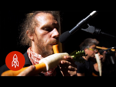 Austrian Orchestra Performs With Vegetable
