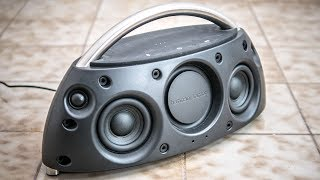 Harman Kardon go+play - CRAZY DEEP BOOSTED MASSIVE EXTREME BASS TEST!!! [Low frequency mode 2018]