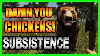 Some strange collusion going on here in Subsistence...I'm sure of it. It's just too convenient the chickens keep running to the safety of the area where the bears are! I'm on to you chickens!Subsistence Playlist https://www.youtube.com/playlist?list=PLSKvsoulJB_YYlyPxTGDkWQtqo_YuQHz9Damn You Chickens! Subsistence Gameplay - New Survival Game 2017 Part 2You can help us by joining our Patreon Membership! ►https://www.patreon.com/Kinetic ◄Hit the Share button also and you can quickly link these vids to friends on Facebook, Twitter and Google+!►Subscribe for more! http://tinyurl.com/n6co4h2►Facebook - https://www.facebook.com/KineticArcade►Twitter - https://twitter.com/#!/KineticGTR►Twitch Livestreams! - http://www.twitch.tv/kineticliveAdditional music by Alpha Records (Royalty Free Playlist) https://www.youtube.com/playlist?list=PLpB84o25w5ukkvqyIxbMZqQ2CduAtZ0fKUse my referral link to buy games and support my channel! It really helps!Instant-Gaming - http://www.instant-gaming.com/igr/KineticGTR/Special thanks to these awesome Platinum Patreon Members!ProxyTobias K.Filip R.Nader A.Brett R.Fahad A.Dunerwin▶Kinetic is a Proud Partner of Union for Gamers -- Want a no-hassle YouTube partnership with no caps, lock-ins and a 90/10 cut? Click the link to learn more and see if your channel meets the necessary requirements:http://www.unionforgamers.com/apply?r...