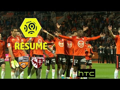 fc lorient fc metz 5 1 r sum fcl fcm 2016 17 football ligue 1 nouvelles. Black Bedroom Furniture Sets. Home Design Ideas