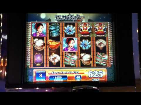 CHINA MOON Penny Video Slot Machine with BONUS RETRIGGERED Las Vegas Casino