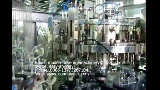 Glass bottle beer filling machine