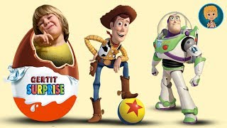 ToY Story 3 & Disney Frozen Toys - Big Kinder Eggs Surprise Toys Kids Videos