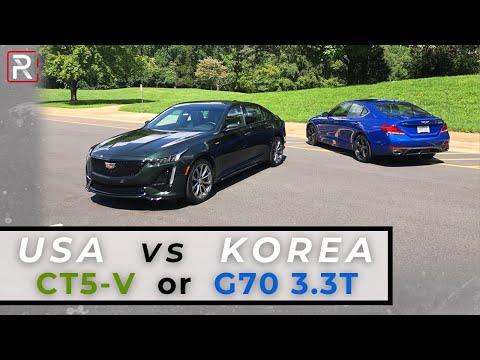 2020 Cadillac CT5-V vs 2020 Genesis G70 3.3T – Redline: Comparison