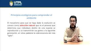 UTPL PRINCIPIOS ECOLÓGICOS PARA COMPRENDER EL AMBIENTE [(INTRODUCCIÓN A LAS CIENCIAS AMBIENTALES)]